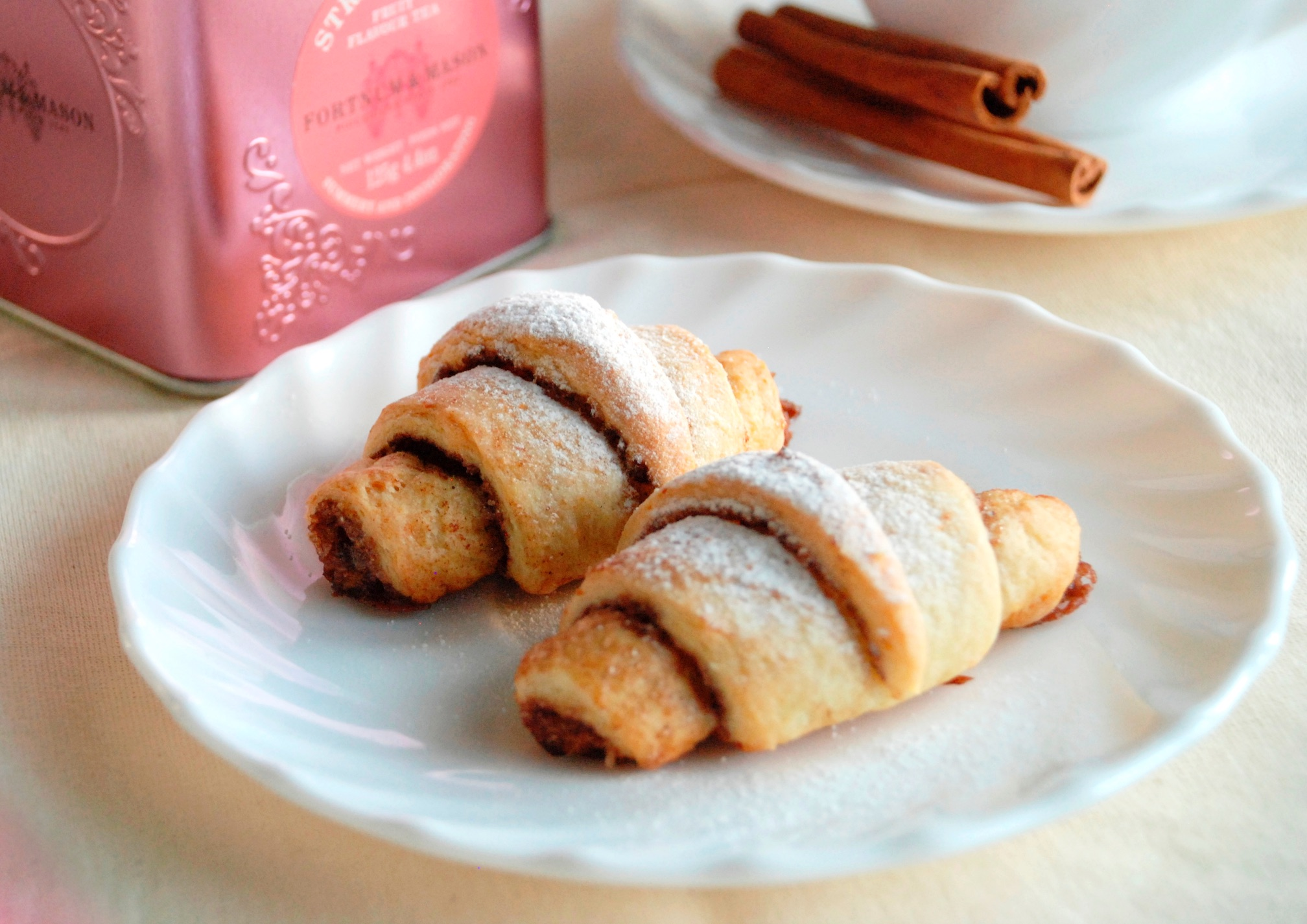 Cottage Cheese Crescent Roll with Cocoa and Cinnamon
