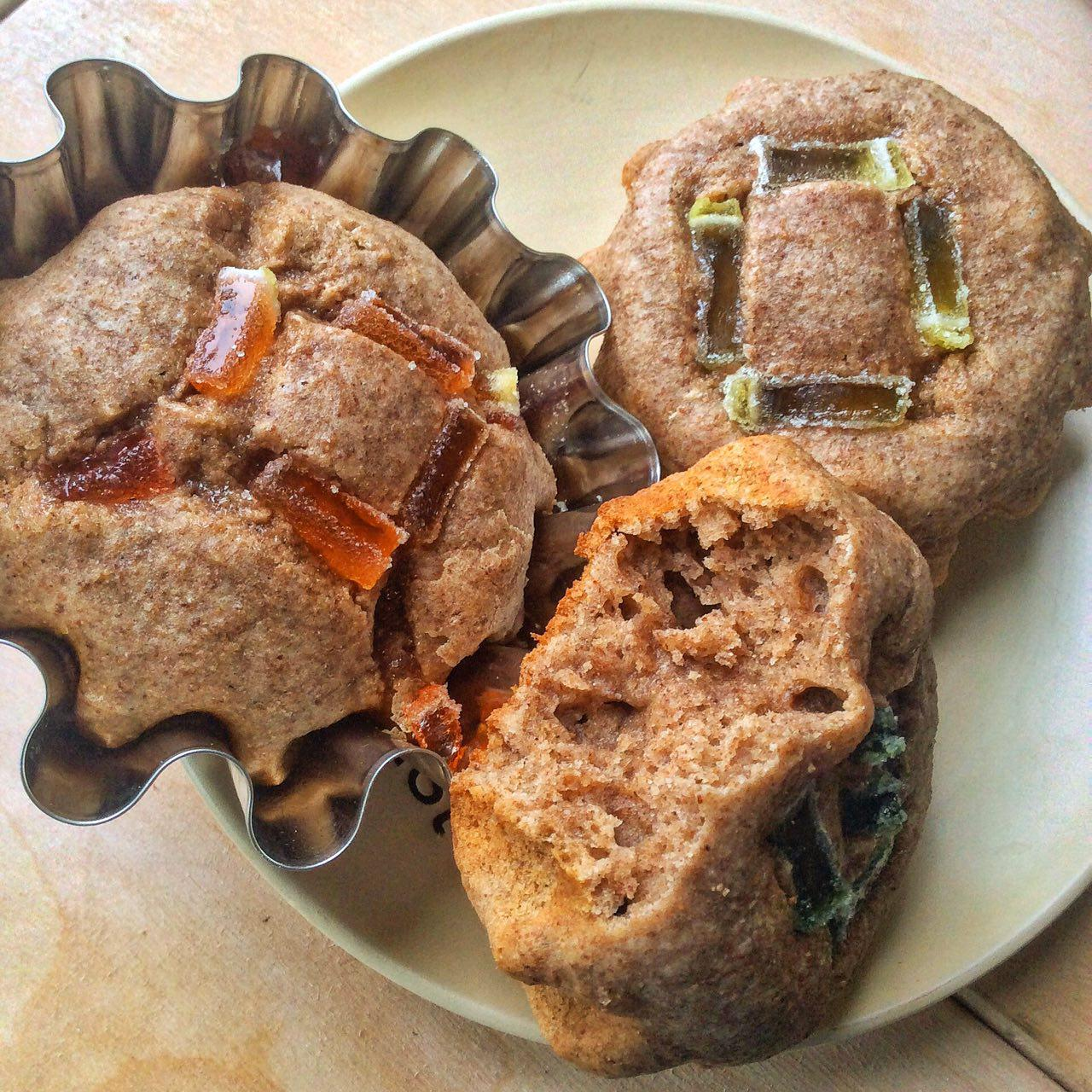Whole Wheat Flaxseeds Muffins with Marmalade
