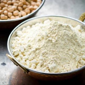 Whole grain flour chickpeas